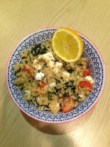 Quinoa, Feta and Tomato Salad