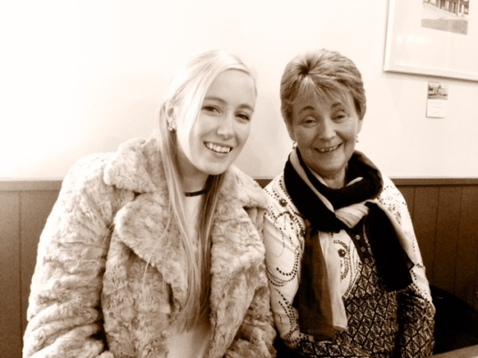Me and the Mama dining out in O'Neils, Golden