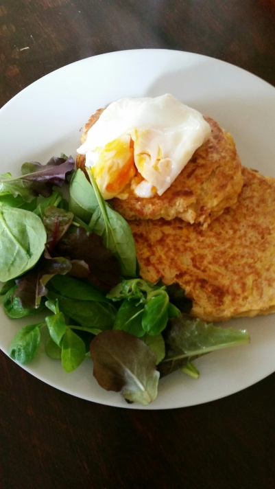 Pumpkin Fritters & Poached egg